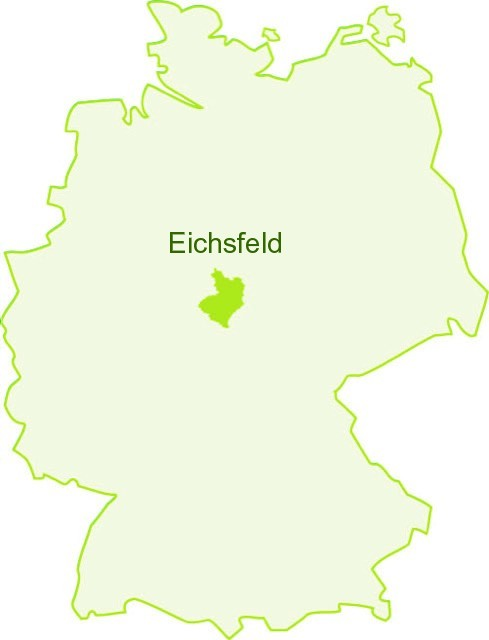 Das Eichsfeld in Deutschland